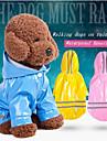 Cachorros Gatos Jaqueta Casaco Impermiavel Faixa Refletiva Roupas para Caes Solido Listrado Vermelho Rosa claro Azul Claro PU Leather Ocasioes Especiais Para Primavera & Outono Unisexo Prova-de-Agua