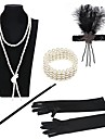 The Great Gatsby Vintage 1920s Roaring Twenties Costume Women\'s Flapper Headband Black / Golden+Black / Black / White Vintage Cosplay Party Prom / Feather