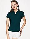 Bomull V-hals T-skjorte Dame - Ensfarget Ut paa byen