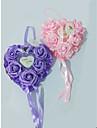 Schiuma cuore / Nastri / Floreale Plastica Cuscino per fedi Spiaggia / Giardino / Farfalle Per tutte le stagioni