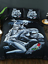 Duvet Cover Sets 3D Poly / Cotton / 100% Cotton Reactive Print 3 PieceBedding Sets / 300 / 3pcs (1 Duvet Cover, 2 Shams)