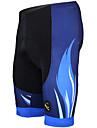 ILPALADINO Hombre Pantalones Acolchados de Ciclismo Bicicleta Shorts / Malla corta Pantalones Cortos Acolchados Pantalones Transpirable Almohadilla 3D Secado rapido Deportes Rayas Poliester Licra Azul