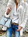 Γυναικεία Καθημερινά / Εξόδου Φθινόπωρο & Χειμώνας Μεγάλα Μεγέθη Κοντό Faux Fur Coat, Μονόχρωμο Κολάρο Ρολό Μακρυμάνικο Ψεύτικη Γούνα Ρουμπίνι / Ανθισμένο Ροζ / Μπεζ XL / XXL / XXXL