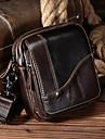 laoshizi mænds tasker nappa læder skulder taske lynlås brun