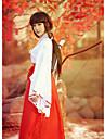 Innoittamana InuYasha Kikyo / Miko Anime Cosplay-asut Cosplay Puvut / Kimono Yhtenäinen Pitkähihainen Toppi / Housut Käyttötarkoitus Naisten