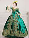 Marie Antoinette Rokokoo 18. vuosisadalla Asu Naisten Mekot Juhla-asu Naamiaisasu Ball Gown Vihreä Vintage Cosplay Pitsi Satiini Runoilija Kokopitkä Tanssiaismekko Pluskoko Räätälöidyt