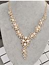 Kadın\'s Klasik Y kolye İmitasyon İnci Yapay Elmas Yaratıcı Bayan Şık Klasik Altın 40+8 cm Kolyeler Mücevher 1pc Uyumluluk Düğün Seramoni