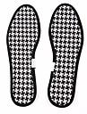 3 Ζεύγη Αποσμητικό Πάτος Παπουτσιών Ύφασμα Πατούσα Όλες οι εποχές Γιούνισεξ Μαύρο