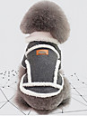 Honden Jack Hondenkleding Brits Vintage Grijs Khaki Katoen Kostuum Voor Winter Unisex Houd Warm Windbestendig: