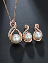 Pentru femei Clasic Set bijuterii Imitație de Perle Dulce, Elegant Include Seturi de bijuterii de mireasă Auriu / Argintiu Pentru Nuntă Gril pe Kamado