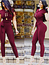 Women\'s Open Back Workout Jumpsuit Black Burgundy Sports Solid Color Spandex High Rise Bodysuit Clothing Suit Zumba Dance Running Activewear Breathable Compression Butt Lift Tummy Control Stretchy