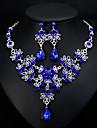 Dámské Klasika Šperky Set stylové, Evropský, Elegantní Zahrnout Visací náušnice Náhrdelník Bílá / Červená / Modrá Pro Svatební Denní
