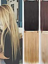Синтетические экстензии Прямой Искусственные волосы 22 дюймы Наращивание волос Клип во / на 1 шт. синтетический Удлинитель Жен. На каждый день