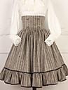 Lolita dulce Casual Lolita Dress Artistic / Retro Lolita dulce Femeie Fustă Cosplay Gri / Cafea Puncte Lung Costume