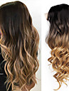 Synthetische Peruecken Wellen Rot Stufenhaarschnitt Schwarz / Rot Schwarz und Gold Schwarz Synthetische Haare 26 Zoll Damen Damen Rot / Schwarz - Blond Peruecke Lang Kappenlos / ja