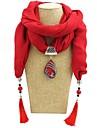 Γυναικεία Μακρύ Κολιέ Κασκόλ κυρίες Ρομαντικό Γλυκός Κομψό Χαριτωμένο Κόκκινο Μπλε Πράσινο Ανοικτό 180 cm Κολιέ Κοσμήματα 1pc Για Δώρο Ημερομηνία