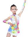 Rhythmic Gymnastics Leotards / Artistic Gymnastics Leotards Women\'s / Girls\' Leotard Ivory High Elasticity Competition Handmade Diamond Look / Shading Long Sleeve Rhythmic Gymnastics / Artistic