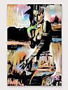 Hang-ζωγραφισμένα ελαιογραφία Ζωγραφισμένα στο χέρι - Άνθρωποι Παραδοσιακό Μοντέρνα Περιλαμβάνει εσωτερικό πλαίσιο / Επενδυμένο καμβά