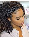 Remy kosa Ljudska kosa 360 Frontalni Perika stil Mongolska kosa Kinky Curly Crna Perika 150% 180% Gustoća kose s dječjom kosom Prirodna linija za kosu Afro-američka perika Za crnkinje S bijelim