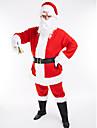 Santa Suit Christmas Dress Adults Men\'s Christmas Christmas Festival / Holiday Plush Fabric Light Red Carnival Costumes Christmas
