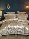 Duvet Cover Sets Luxury Silk / Cotton Blend Reactive Print 4 Piece Bedding Sets queen