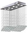 8-Light Cristal Candelabre Lumină Spot Galvanizat Metal Cristal, Bec Inclus, designeri 110-120V / 220-240V Alb Cald / Alb Rece Bec Inclus / GU10
