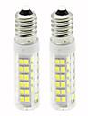 2pcs 4.5 W 450 lm E14 Becuri LED Corn T 76 LED-uri de margele SMD 2835 Intensitate Luminoasă Reglabilă Alb Cald / Alb Rece 220 V