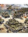 Building Blocks Block Minifigures Toy Playsets 256-1386 pcs Military Tank Warship compatible Legoing Simulation Military Vehicle Tank Plane All Boys\' Girls\' Toy Gift / Educational Toy