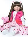 NPKCOLLECTION NPK DOLL Reborn-dukker Pige Doll Babypiger 24 inch livagtige Nyt Design Kunstig Implantation Brown Eyes Børne Pige Legetøj Gave