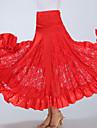 Ballroom Dance Bottoms Women\'s Training / Performance Polyester Lace / Ruching High Skirts