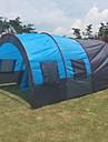 7 شخص خيمة شاحنات خيمة التخييم العائلية في الهواء الطلق ضد الهواء الدفء خفيف جدا (UL) طبقة واحدة قطب الماسورة أنبوب و نفق خيمة التخييم غرفتين 1000-1500 mm إلى صيد السمك شاطئ تخييم جلد PU