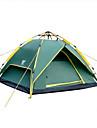 Sheng yuan 4 osoby Rodinné kempování stan Outdoor Větruvzdorné Odolné vůči dešti Prodyšnost dvouvrstvé Tyč Camping Tent 2000-3000 mm pro Kempování a turistika Tkanina Oxford 230*180*130 cm