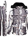 Homens Mulheres camuflagem Jaqueta com Calca de Cacador Ao ar livre Forro de Velocino Manter Quente Anti-Roupa Conjuntos Inverno Algodao 100% Poliester Caca, Pesca, Campismo / Escursao