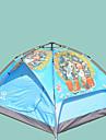 Sheng yuan 3 osoby Malé stany Rodinné kempování stan Outdoor Větruvzdorné Odolné vůči dešti Prodyšnost dvouvrstvé Camping Tent 2000-3000 mm pro Plážové Kempování a turistika cestování Tkanina Oxford