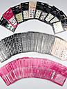 10 pcs 3D наклейки на ногти Наклейка для переноса воды Креатив маникюр Маникюр педикюр Эргономический дизайн / Классический / Лучшее качество модный / Романтика Повседневные / фестиваль