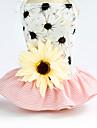 Chiens Chats Animaux de Compagnie Robe Smoking Decoration Vetements pour Chien Floral / Botanique Rayure Fleur Noir Rose Jacquard Coton Eponges naturelles Costume Pour Corgi Beagle Bouledogue / Ete