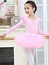 اطفال ملابس الرقص / رقص الباليه أزياء للفتيات التدريب / أداء سباندكس / شبكة كشاكش كم طويل تنانير / / قمصان الرضعثوب الراقص