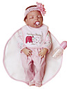 NPKCOLLECTION NPK DOLL Poupees Reborn Fille Poupee Bebes Fille 24 pouce Silicone complet Silicone Vinyle - realiste Economique Cadeau Fabrication a la main Securite Enfant Enfant / Adolescent Pour