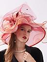 الأورجانزا أغطية الرأس مع زهور / كشكش 1 قطعة زفاف / الرياضة & في الخارج خوذة