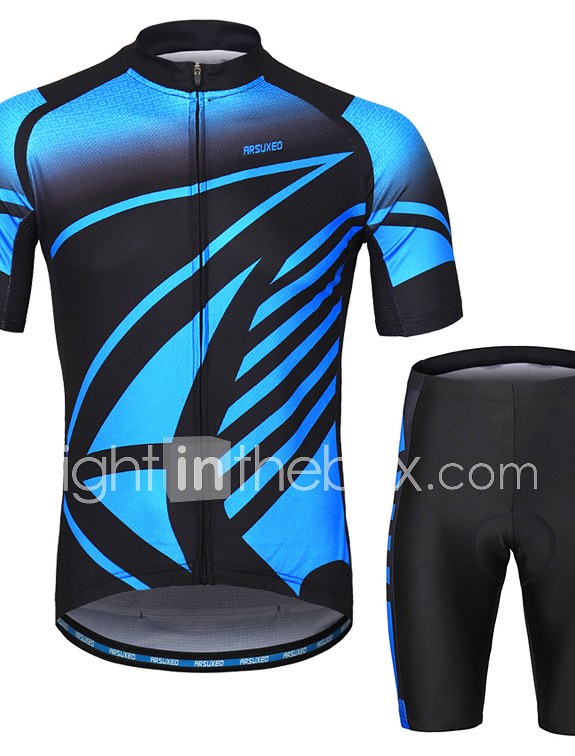Arsuxeo Men s Short Sleeves Cycling Jersey with Shorts - Blue Bike Clothing  Suit 3D Pad Sports Painting Mountain Bike MTB Road Bike Cycling Clothing  Apparel ... 62f1bd248