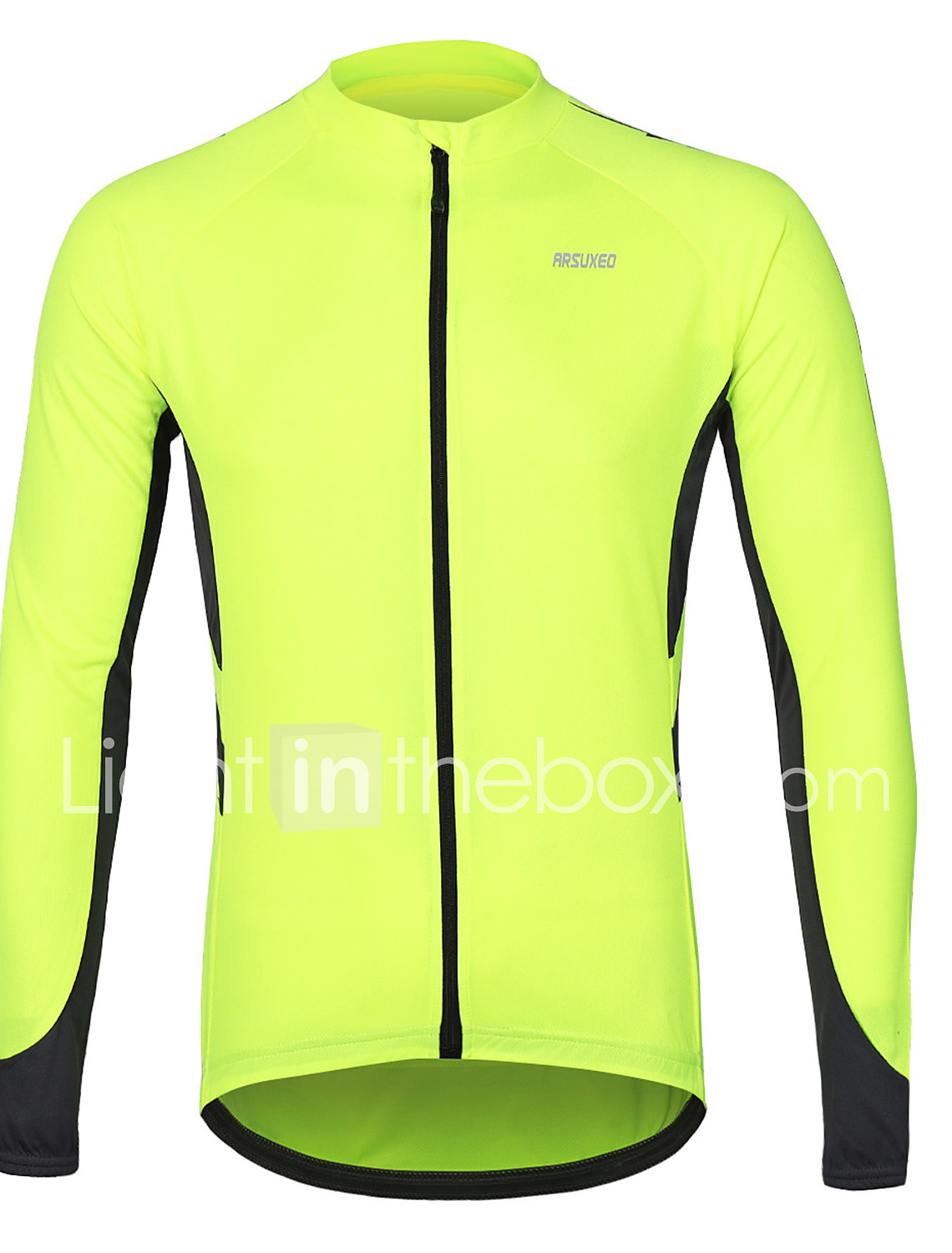 969b03223ef Arsuxeo Men s Long Sleeve Cycling Jersey - Dark Grey Blue Grey Solid Color Bike  Jersey Reflective